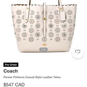 Brand New Leather Coach Tote Bag